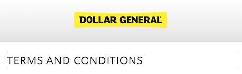 Dollar General Survey T&C