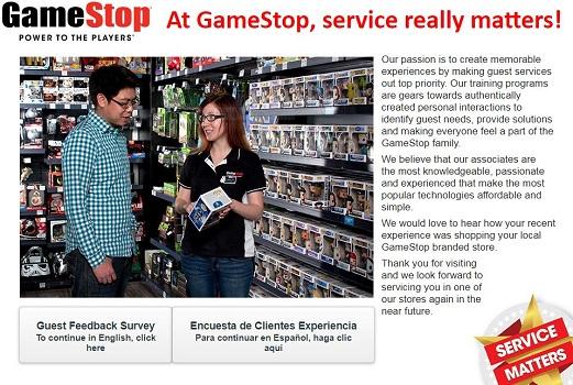 Gamestop service