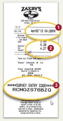 zaxbys receipt