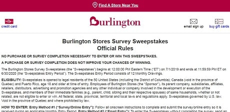 Burlington Feedback rules