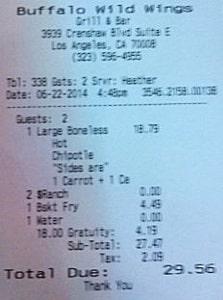 BwwListens receipt