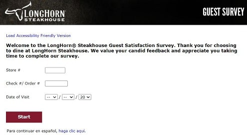 Long Horn survey page