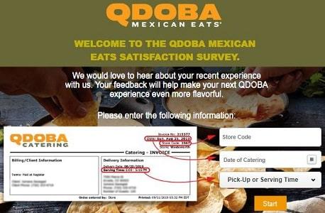 Qdoba Listens invoice
