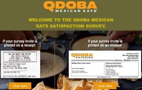 Qdoba Listens survey page