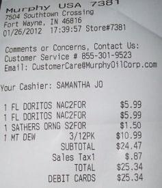 TellMurphyUSA receipt