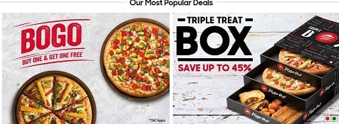 TellPizzaHut offers and food