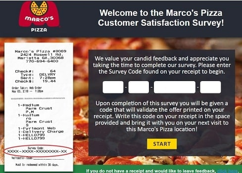 tell marcos survey code