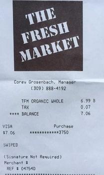 thefreshmarket receipt